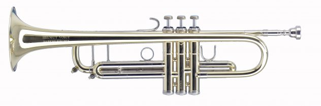Helmut Voigt Bb Trumpet with Piston valves HV-TRB2 Brass, Monel pistons, nickel silver slides, Amado waterkeys at the main tuning slide and the 3rd valve slide, 1st slide thumb saddle and 3rd slide ring