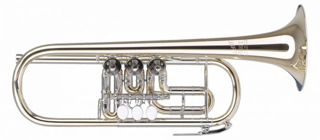 Helmut Voigt C Trumpet HV-TRC1,Gold brass, nickel silver slides, waterkey at the main tuning slide, optional at the 3rd valve slide, optional high keys (Vienna key)