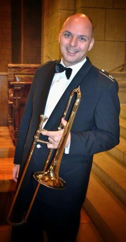 "Ekkehard Kästel with Alto trombone ""Helmut Voigt - A1"" - Musikkorps der Bundeswehr, Bonn"