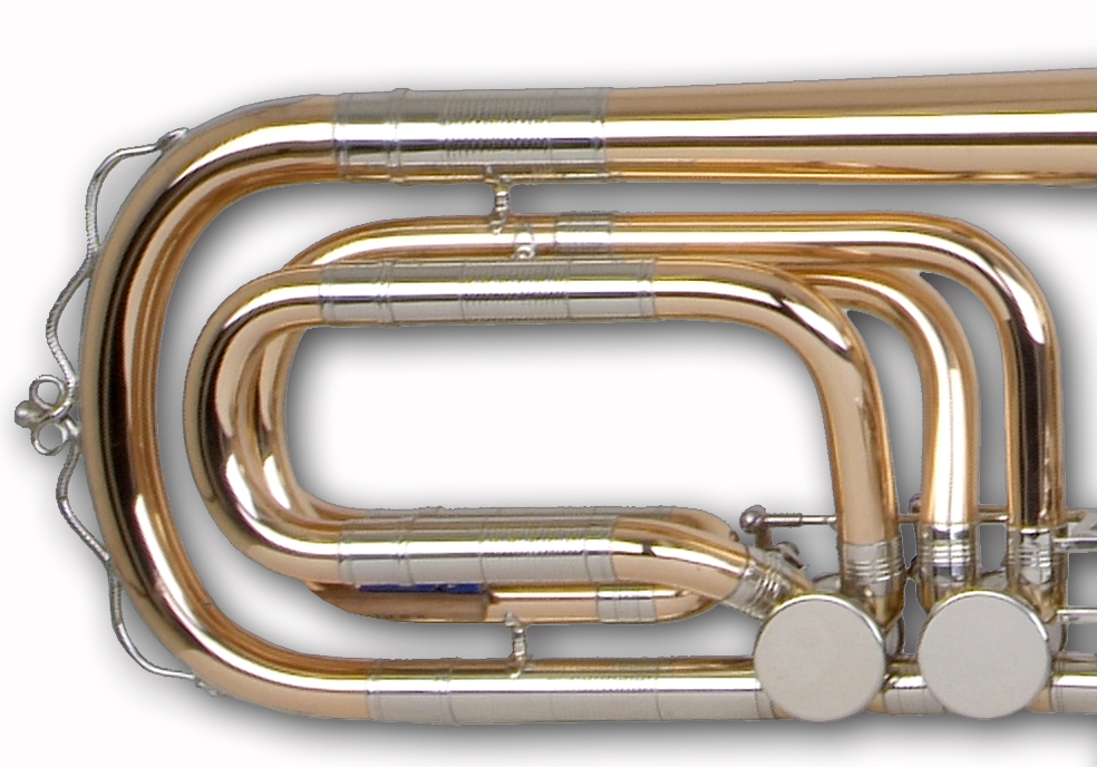 Bass trombone, traditional wrap