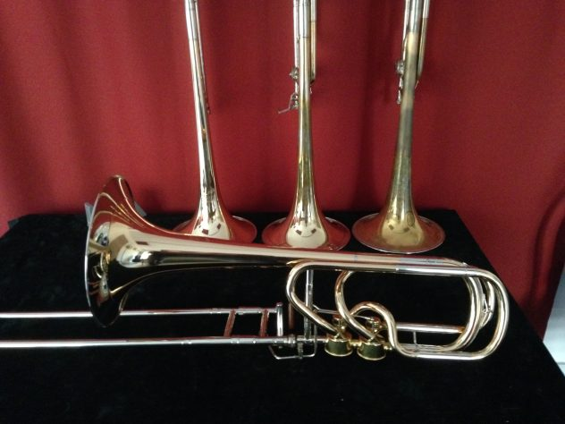 "Bass trombone ""Helmut-Voigt-B2"" in Bb/F/D with Hagmann valves"